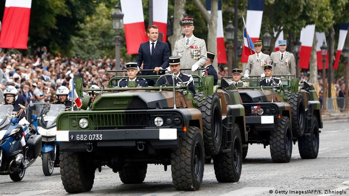French President Emmanuel Macron and Chief of the Defense Staff of the French Army General Francois Lecointre