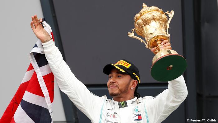 Formel 1 Grand Prix in Silverstone Sieger Hamilton