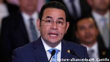 Guatemala Staatspräsident Jimmy Morales