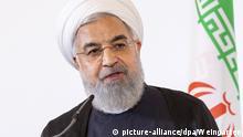 Iranischer Präsident Hassan Rohani beim offiziellen Besuch am 04.07.2018 in Wien