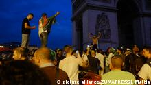 Rally of Algerian Supporters on Champs Elysees, July 12, 2019