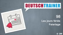 DEUTSCHKURSE | Deutschtrainer | Folge 98 | 098_000f_Titelfolie_FRA