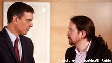 Pedro Sanchez and Pablo Iglesias (picture-alliance/dpa/R. Rubio)