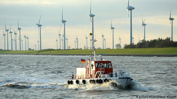 Emden'deki rüzgar türbinleri