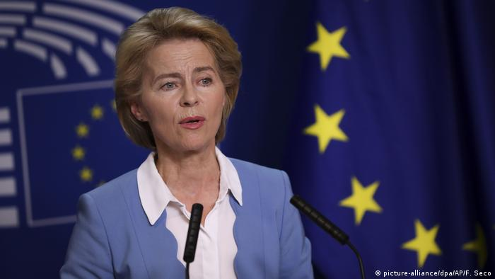Ursula von der Leyen, the nominee for European Commission president, in Brussels