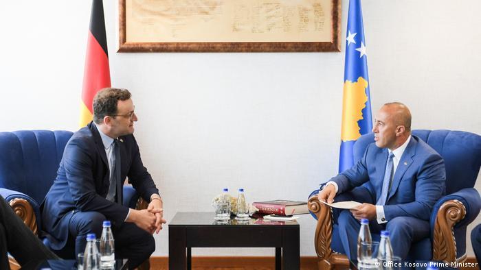 Kosovo Pristina   Jens Spahn trifft Kosovos Premierminister Ramush Haradinaj