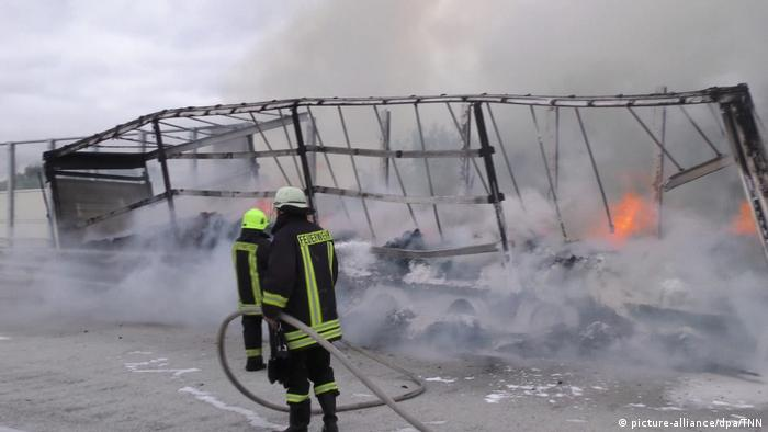 17 tons of cocoa destroyed in German highway fire