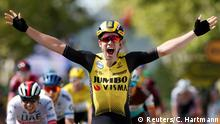 Cycling - Tour de France - The 217.5-km Stage 10 from Saint-Flour to Albi - July 15, 2019 - Team Jumbo-Visma rider Wout Van Aert of Belgium wins the stage. (Reuters/C. Hartmann)