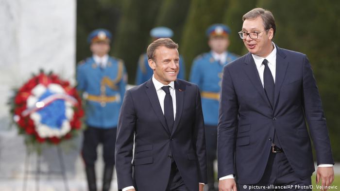 Emmanuel Macron zu Besuch bei Aleksandar Vucic in Belgrad