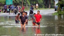Indien Flut Assam Überflutung