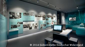 Exhibition room on youth resistance during the Nazi era