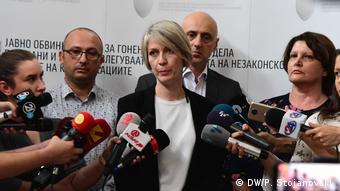 Pressekonferenz der Sonderstaatsanwaltschaft in Nord-Mazedonien