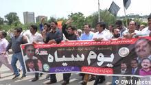 Pakistan Protest für Medien freiheit 'black day' genannt