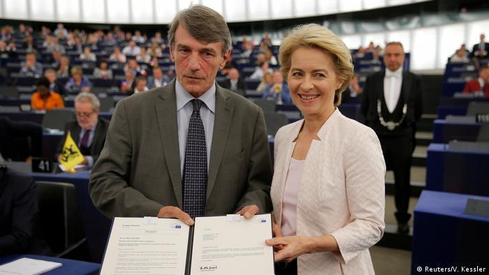 Frankreich Wahl zur EU-Kommissionspräsidentin | David-Maria Sassoli und Ursula von der Leyen