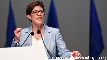 Annegret Kramp-Karrenbauer (picture-alliance/Xinhua/L. Yang)