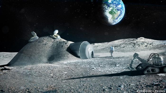 Computersimulation einer künftigen Mondstation