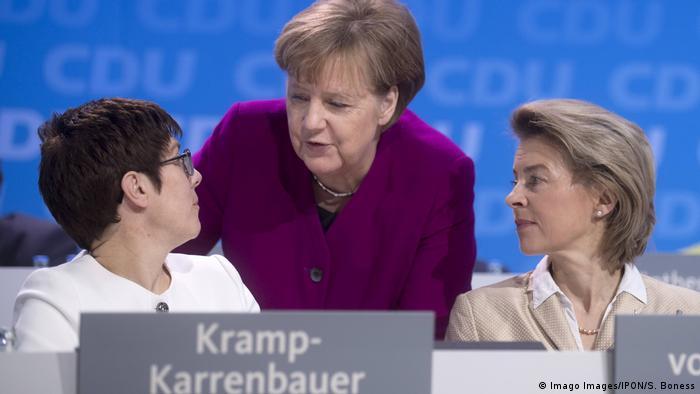 Angela Merkel, Annegret Kramp Karrenbauer and Ursula von der Leyen