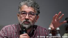 Turkey representative for international rights group Reporters Without Borders (RSF) Erol Onderoglu speaks during a press conference on February 27, 2019 to condemn attacks on civil society groups in Turkey after philanthropist Osman Kavala indictment. - A Turkish prosecutor the day before sought life in prison for 16 suspects including Kavala, charged with attempting to overthrow the government. Kavala, who has been held in custody for more than a year without being formally charged, is accused of backing 2013 anti-government protests in Istanbul and the failed 2016 coup. (Photo by OZAN KOSE / AFP) (Photo credit should read OZAN KOSE/AFP/Getty Images)