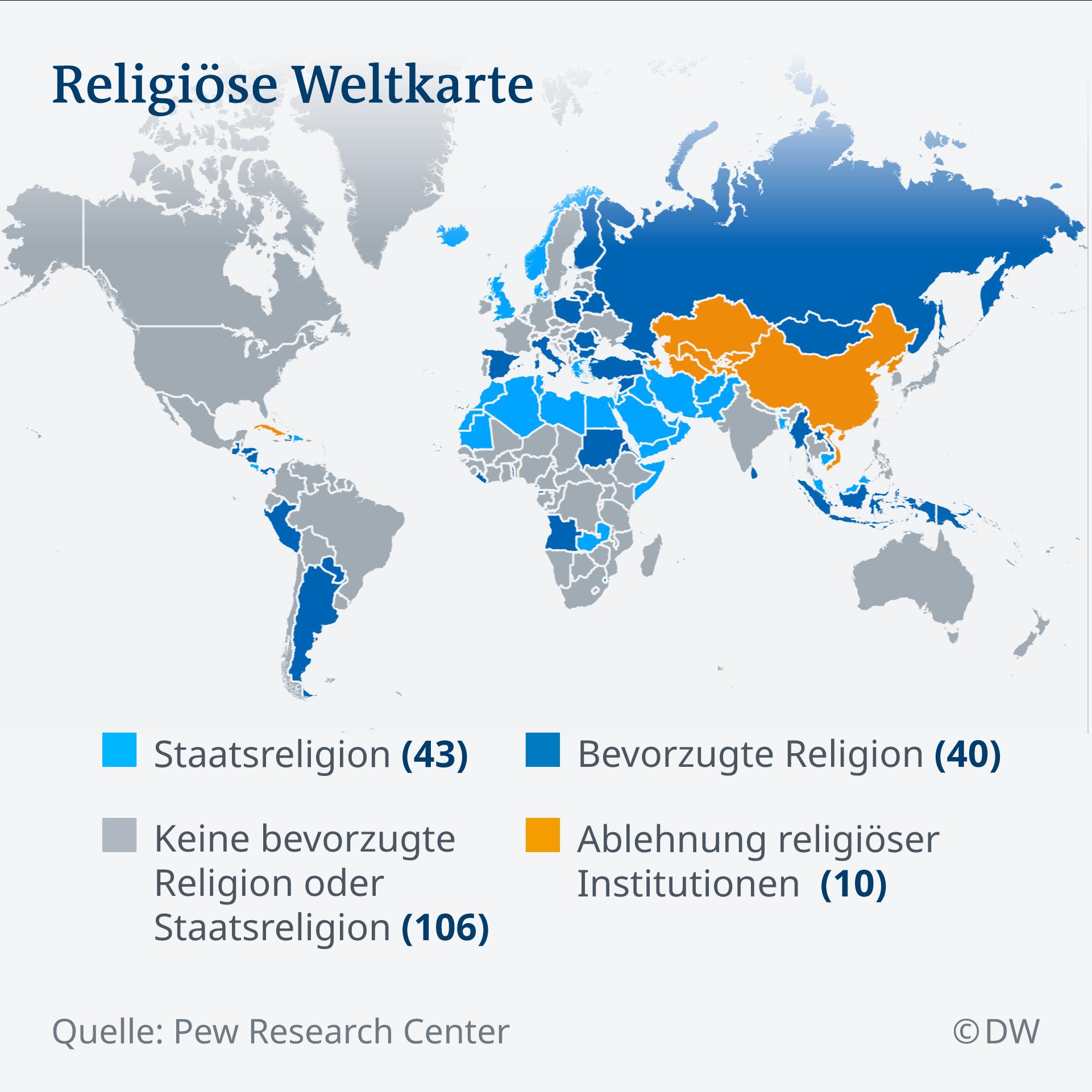 Infografik Religiöse Weltkarte DE