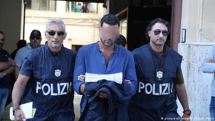 Італійська поліція затримала ймовірного члена мафіозного угруповання, липень 2019 року