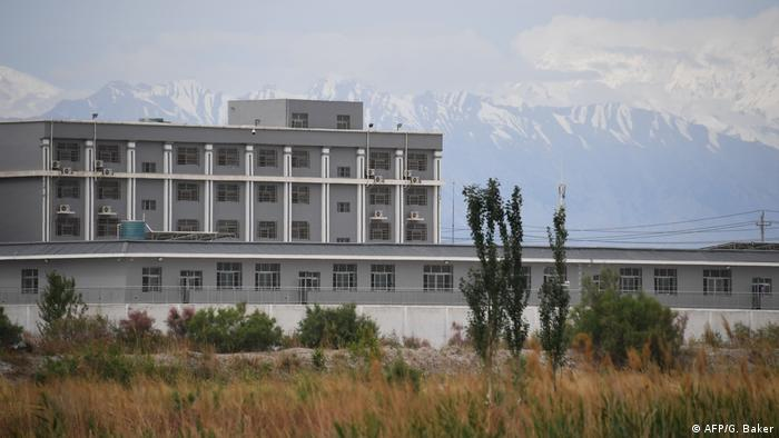 Sincan Uygur Özerk Bölgesi'nde eğitim kampı olduğuna inanılan bir bina