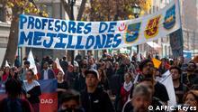 Chile Santiago Lehrer Demonstration