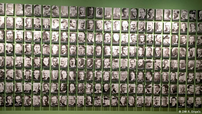 Berlin German Resistance Memorial Center pictures of all the people who resisted the Nazi regime in Germany (DW/ R. Engels)