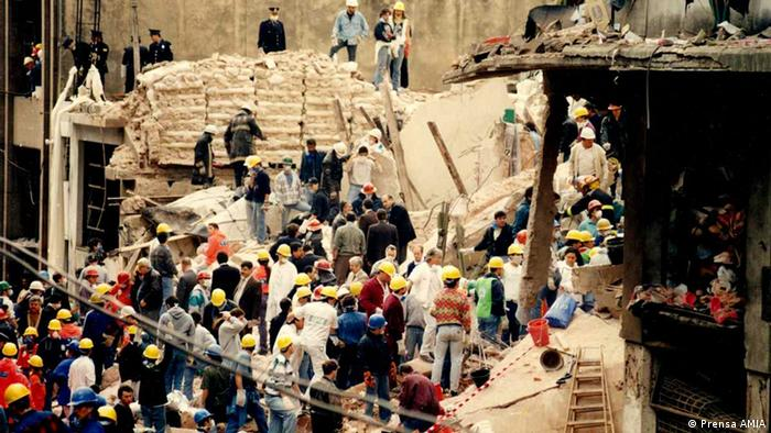 Buenos Aires: Rubble from the AMIA bombing in 1994