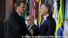 Argentinien Santa Fe Mercosur Gipfel | Jair Bolsonaro und Mauricio Macri