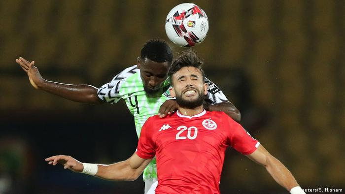 Players compete at the Africa Cup of Nations