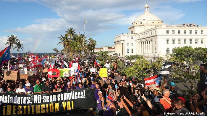 Manifestaciones en San Juan de Puerto Rico. (17.07.2019).