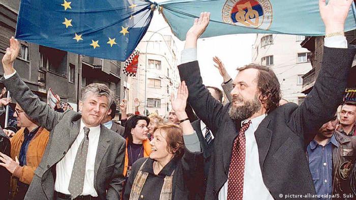 Đinđić, Pešić, Drašković - koalicija Zajedno odnela je pobedu u najvećim gradovima 1996. godine
