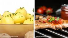 Bildkombo Kartoffeln und Fleisch