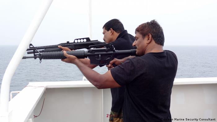 Indian maritime security personnel