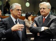 Ο πρόεδρος της ΕΚΤ Ζαν Κλοντ Τρισέ και ο αντιπρόεδρος Λουκάς Παπαδήμος