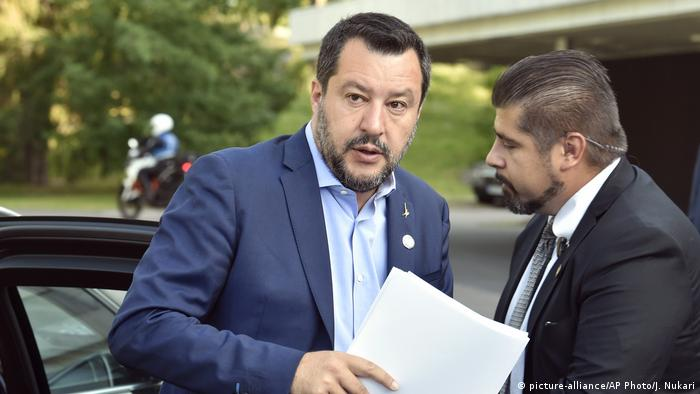 Matteo Salvini arrives in Helsinki, Finland