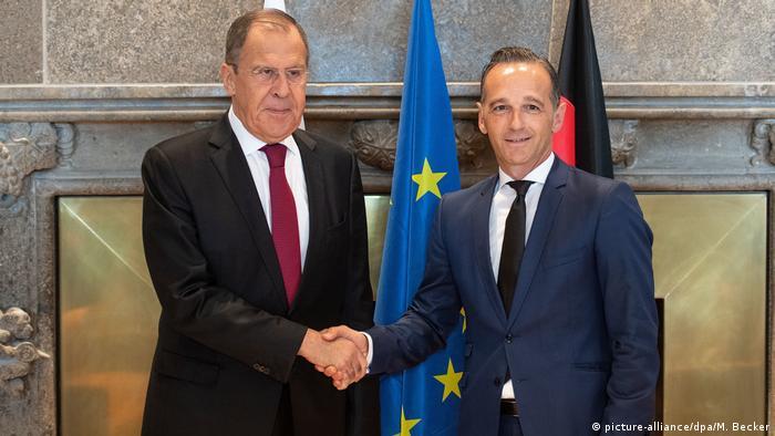 Les ministres des Affaires étrangères allemand et russe à Königswinter, près de Bonn