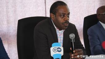 Le ministre de la santé Oly Ilinga à Goma le 18 juillet 2019.