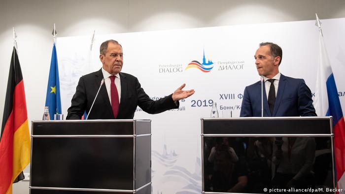 Лавров и Маас, Петербургский диалог, 18 июля 2019