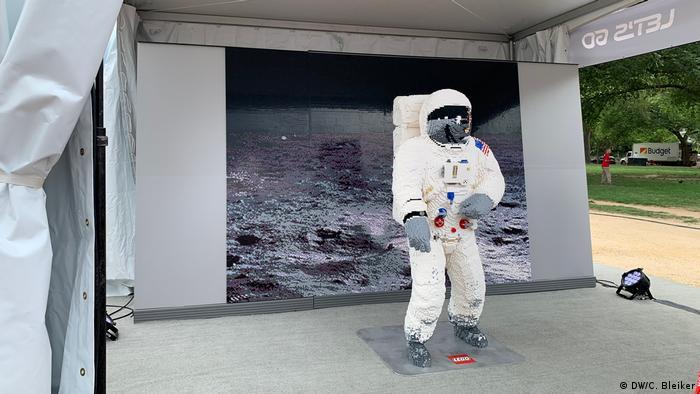 Astronaut built from Lego bricks at the Apollo 50 Festival in Washington