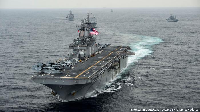 O navio USS Boxer