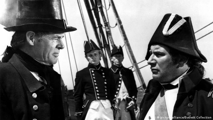 Robert Ryan (l.) und Peter Ustinov in der Verfilmung von Melvilles Erzählung Billy Budd aus dem Jahre 1962