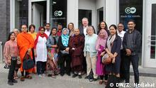 DW Director General Peter Limbourg together with delegates from Asia (DW/Z. Nedjabat)
