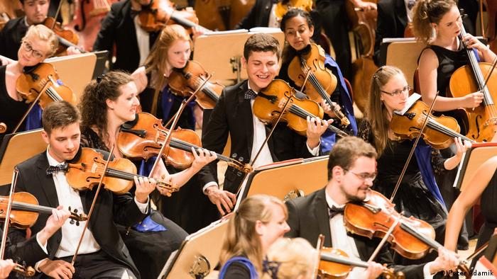 The European Youth Orchestra performs at the Young Euro Classic festival in 2019 (Peter Adamik)