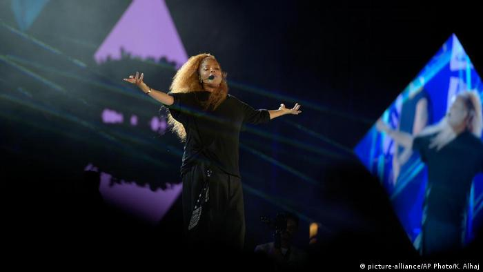 Saudi-Arabien Konzert Janet Jackson in Dschidda (picture-alliance/AP Photo/K. Alhaj)