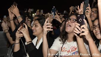 По време на концерт в Джида