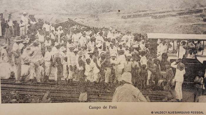Uma das poucas fotos existentes do Campo de Concentração do Patu