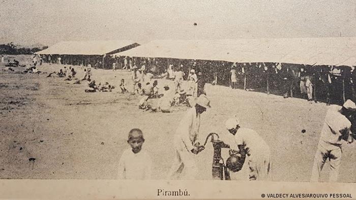 Campo de Concentração no bairro do Pirambu, em Fortaleza, serviu de entreposto para exportação de mão de obra para outros estados