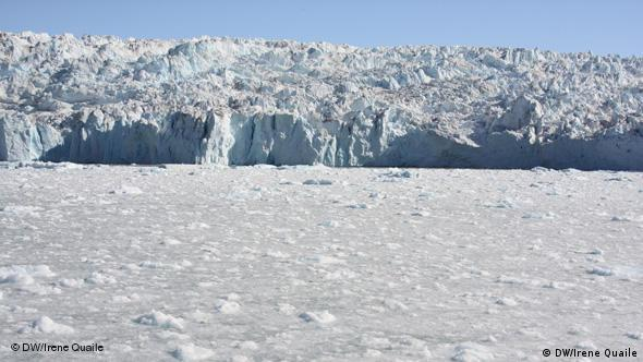 A glacier on Greenland