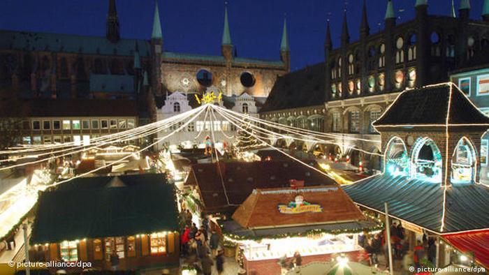 Historischer Weihnachtsmarkt in Lübeck